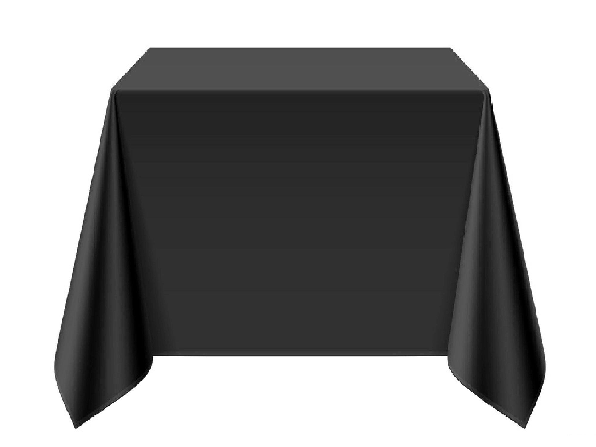 "SQUARE POLY LINENS | 90"" x 90"" - BLACK"