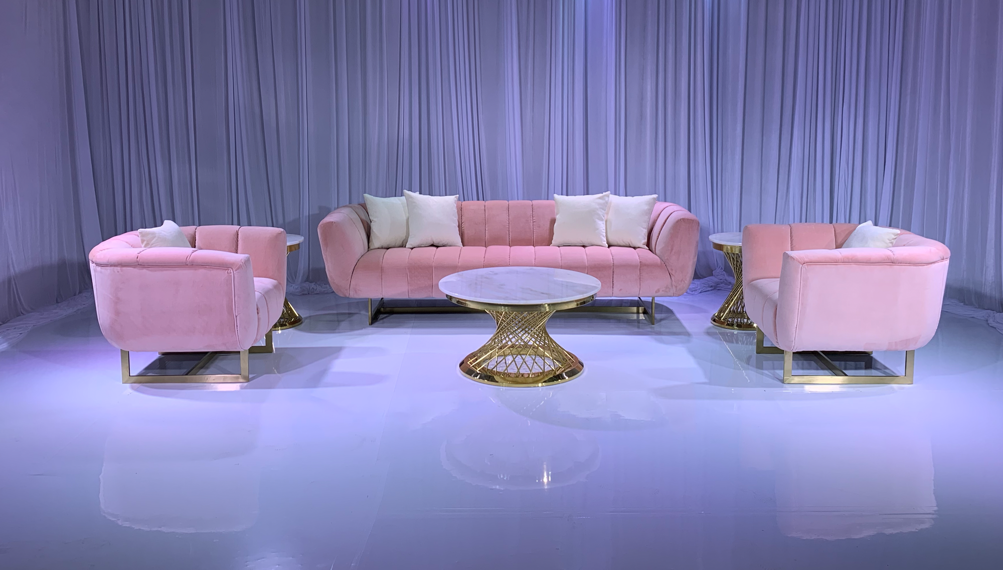 AVENUE SOFA GROUPING 1 - BLUSH