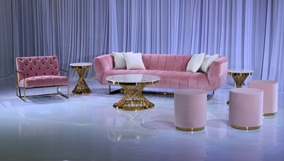 AVENUE SOFA GROUPING 2 - BLUSH