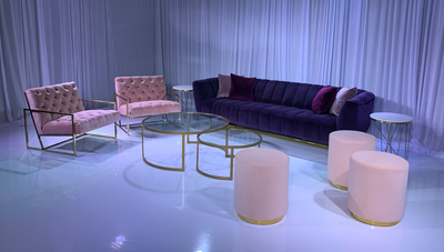 AVENUE SOFA GROUPING 3 - VIOLET