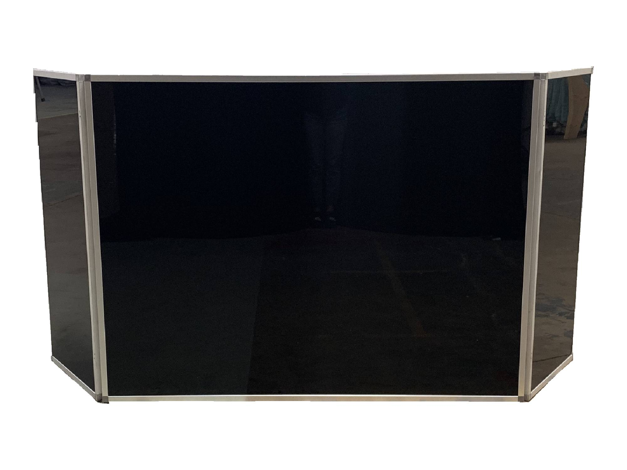 6FT-WIDE ACRYLIC TRI-FOLD DJ FAÇADE - BLACK
