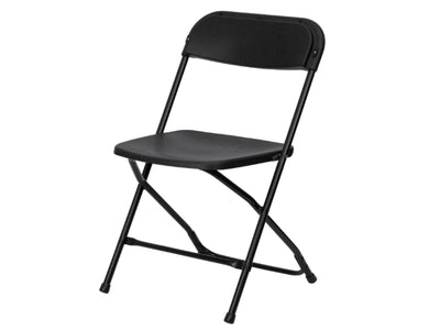 PREMIER PLASTIC FOLDING CHAIR - BLACK