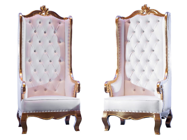 CHARLOTTE THRONE CHAIR PAIR - GOLD