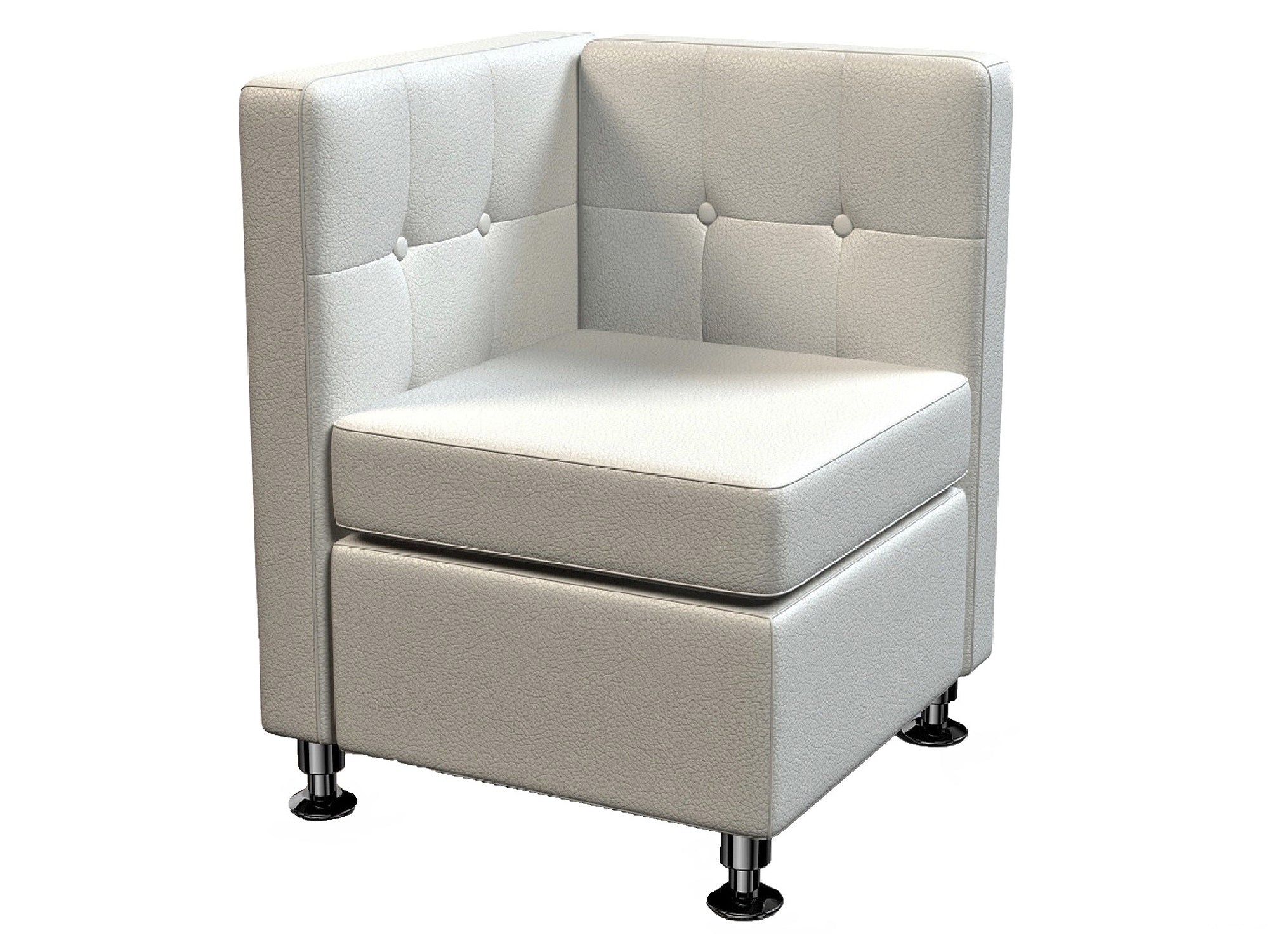 CLUB CORNER SOFA SECTION - WHITE