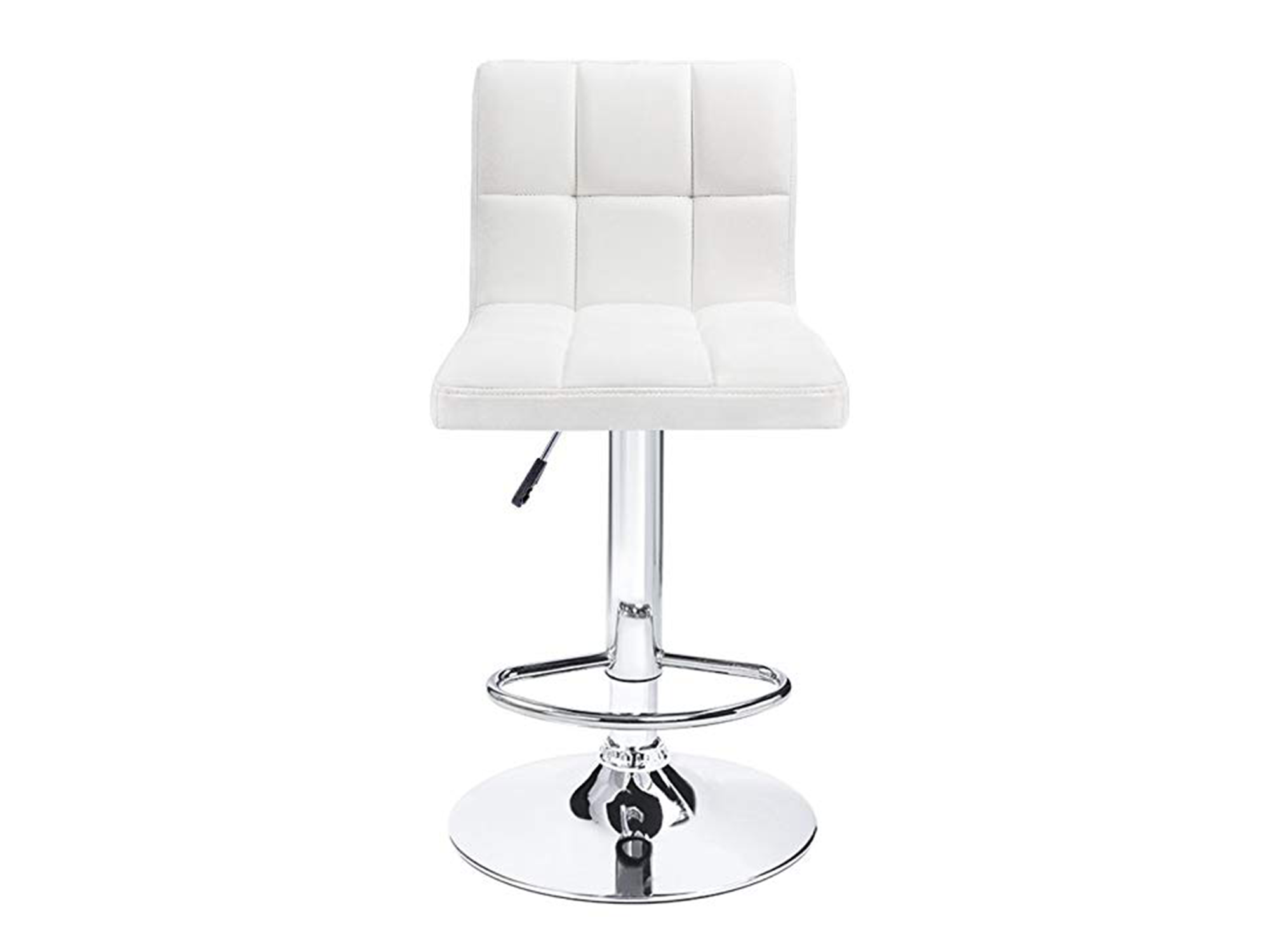 CLUB PANEL ARMLESS BARSTOOL - WHITE
