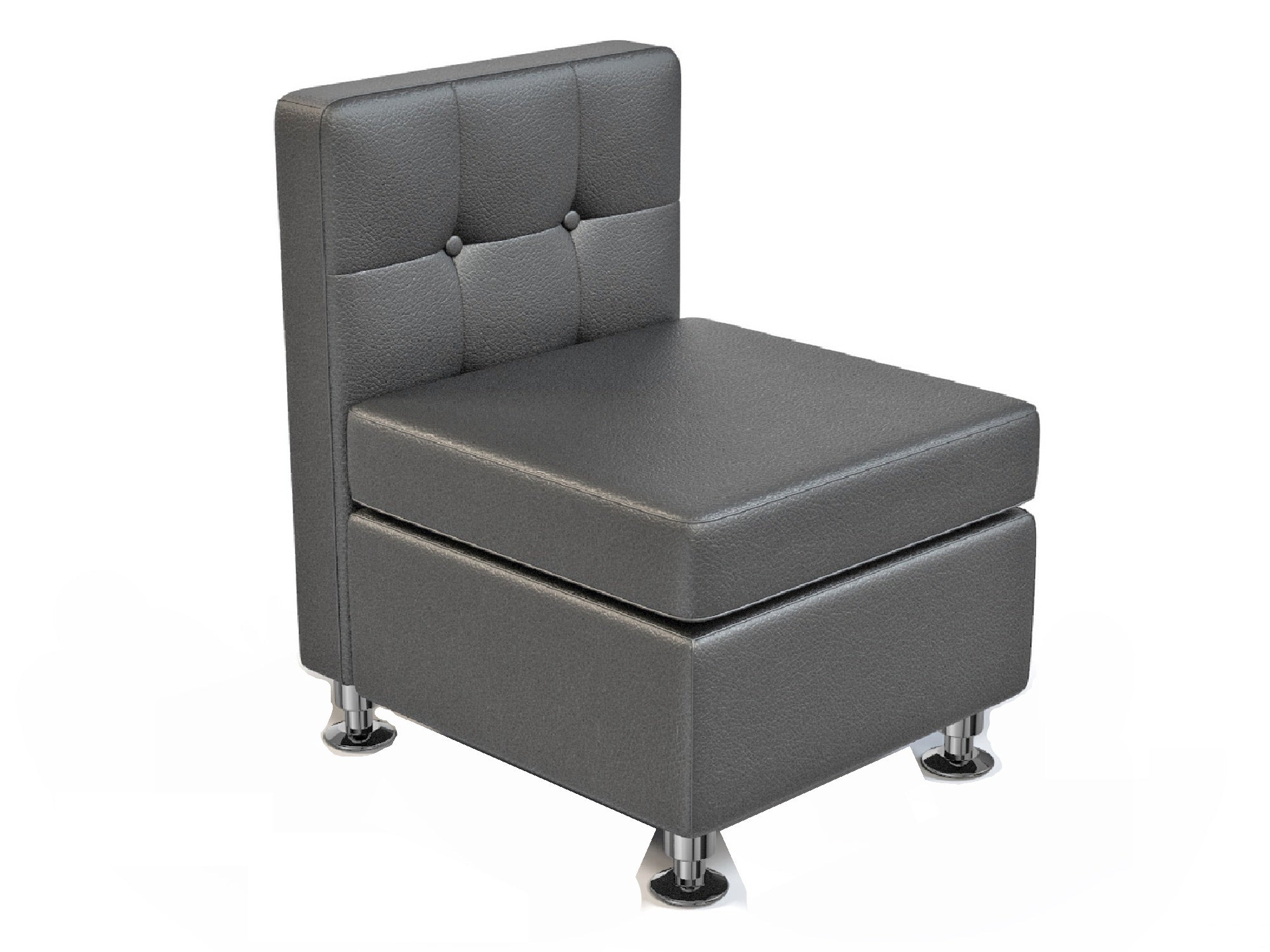 CLUB ARMLESS SOFA SECTION - BLACK