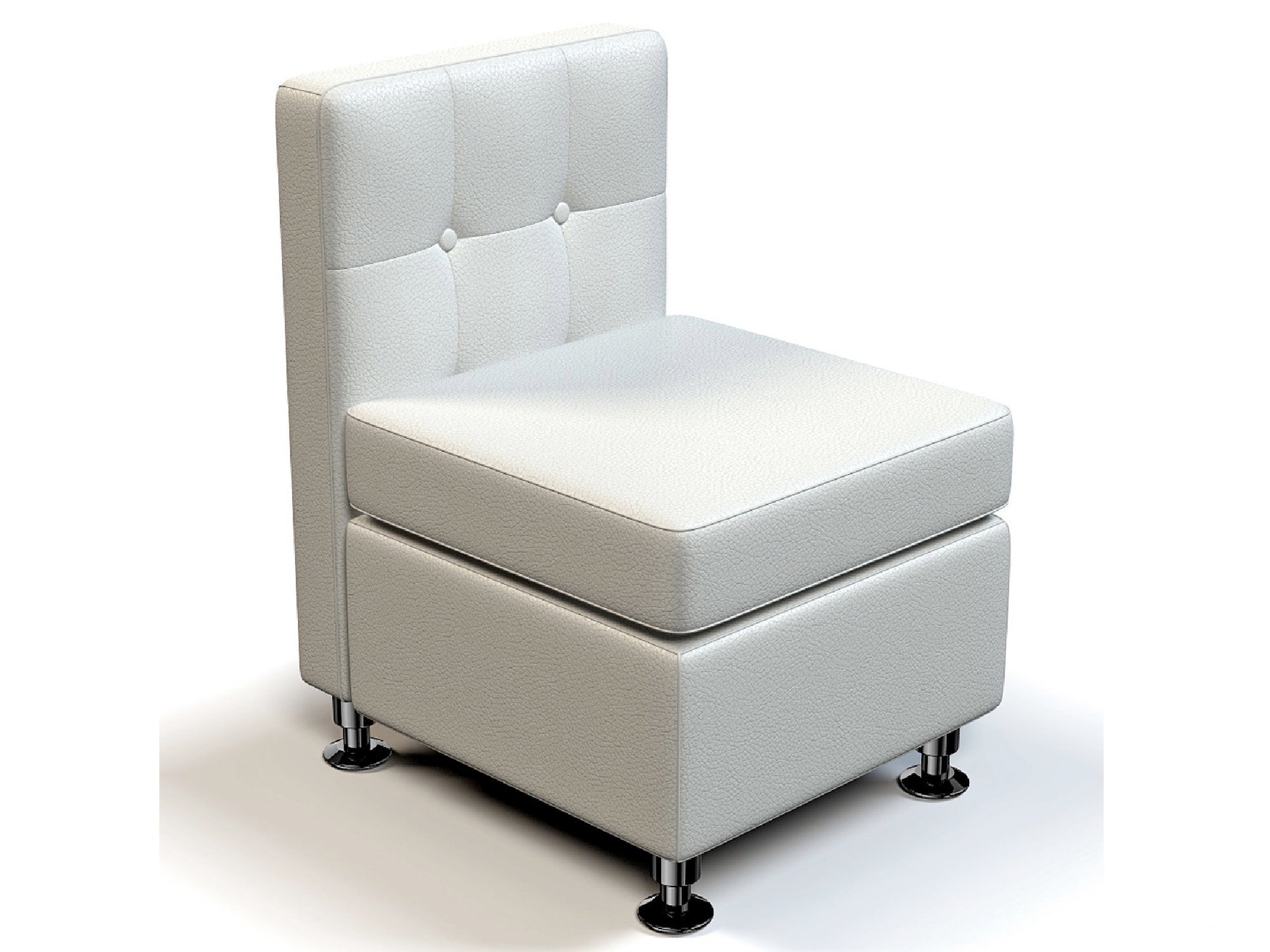 CLUB ARMLESS SOFA SECTION - WHITE