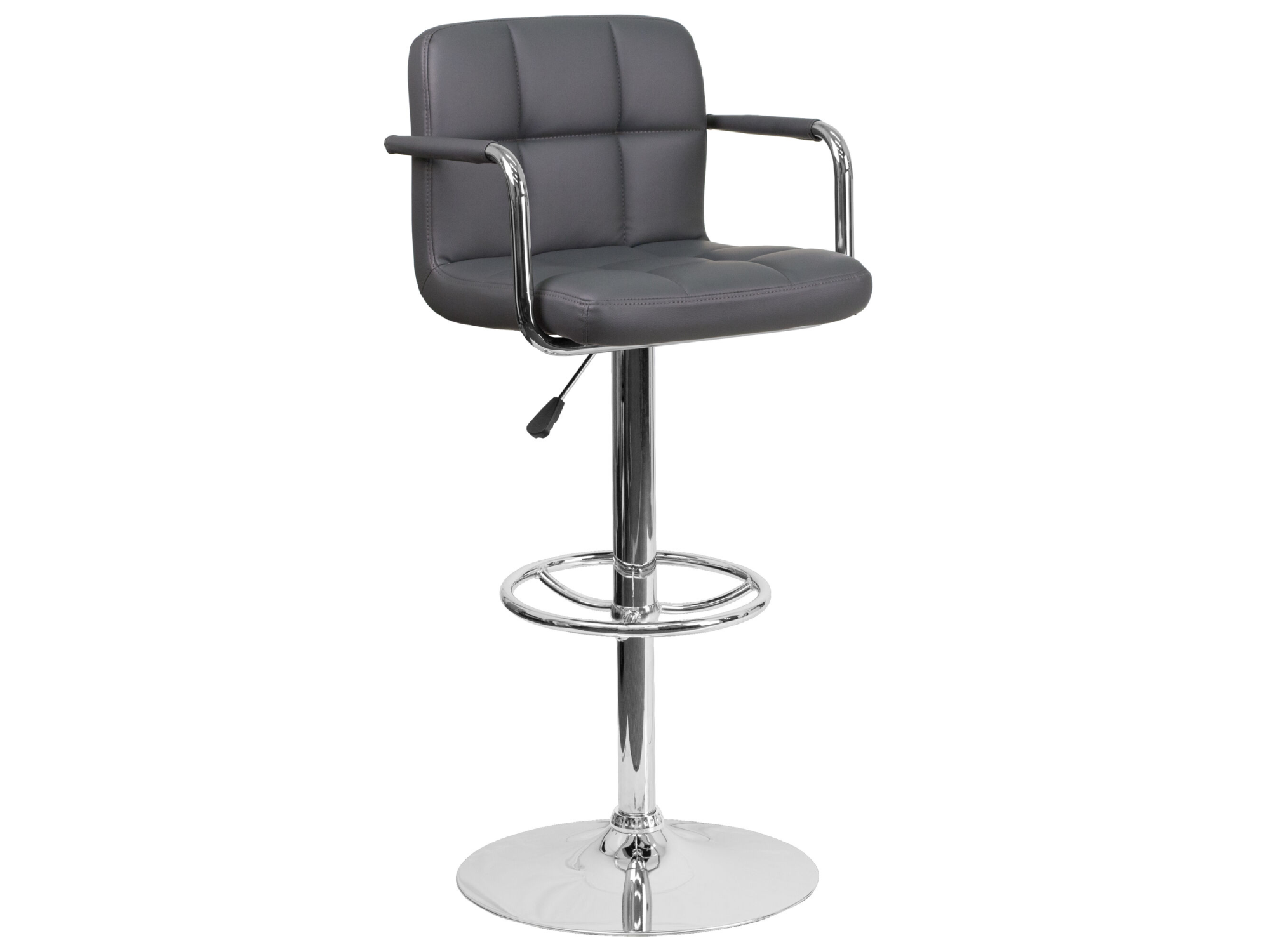 CLUB PANEL BARSTOOL - GREY