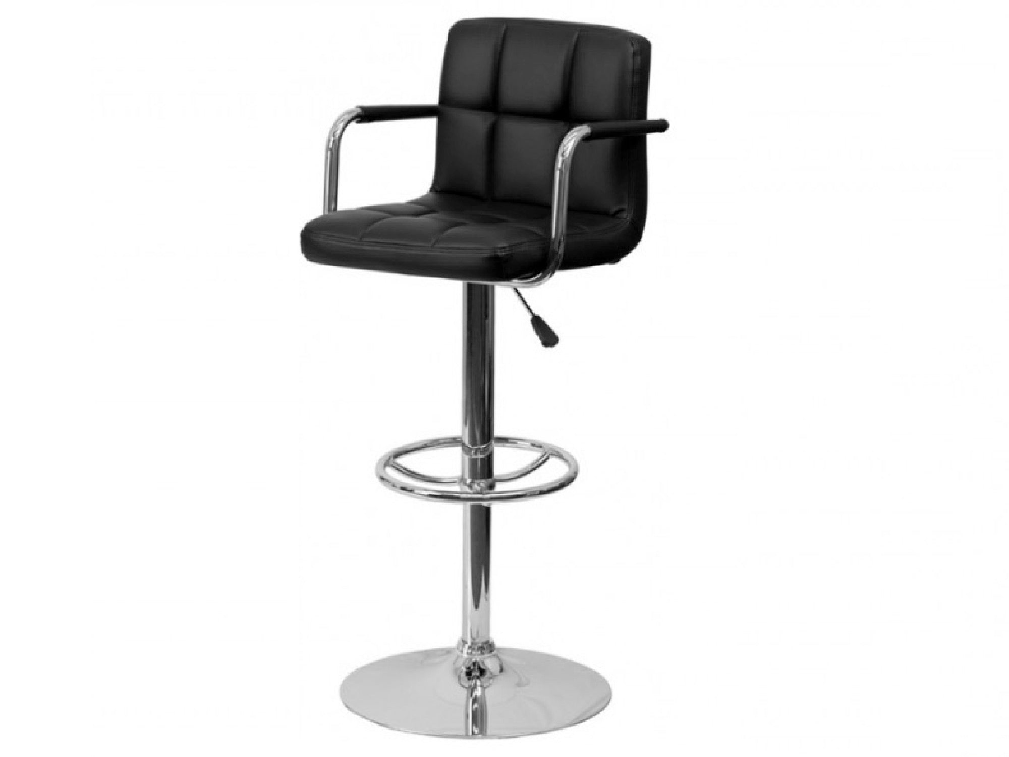 CLUB PANEL BARSTOOL - BLACK