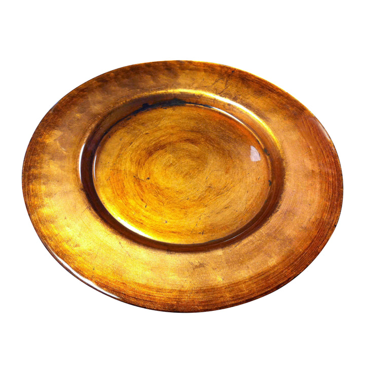BRONZE GLOW CHARGER PLATE