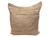 CRINKLE PILLOW - TAUPE/GOLD