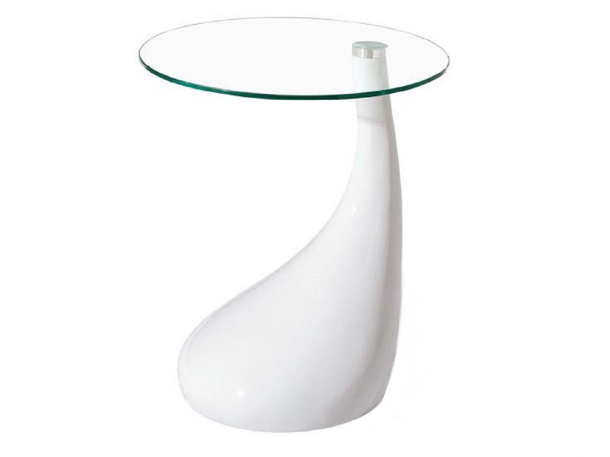 DROPLET ACCENT TABLE - WHITE