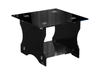FROSTED GLASS ACCENT TABLE - BLACK
