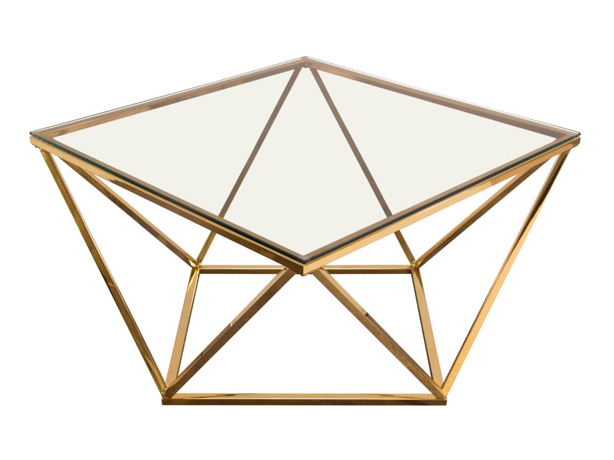DIAMOND COFFEE TABLE - GOLD