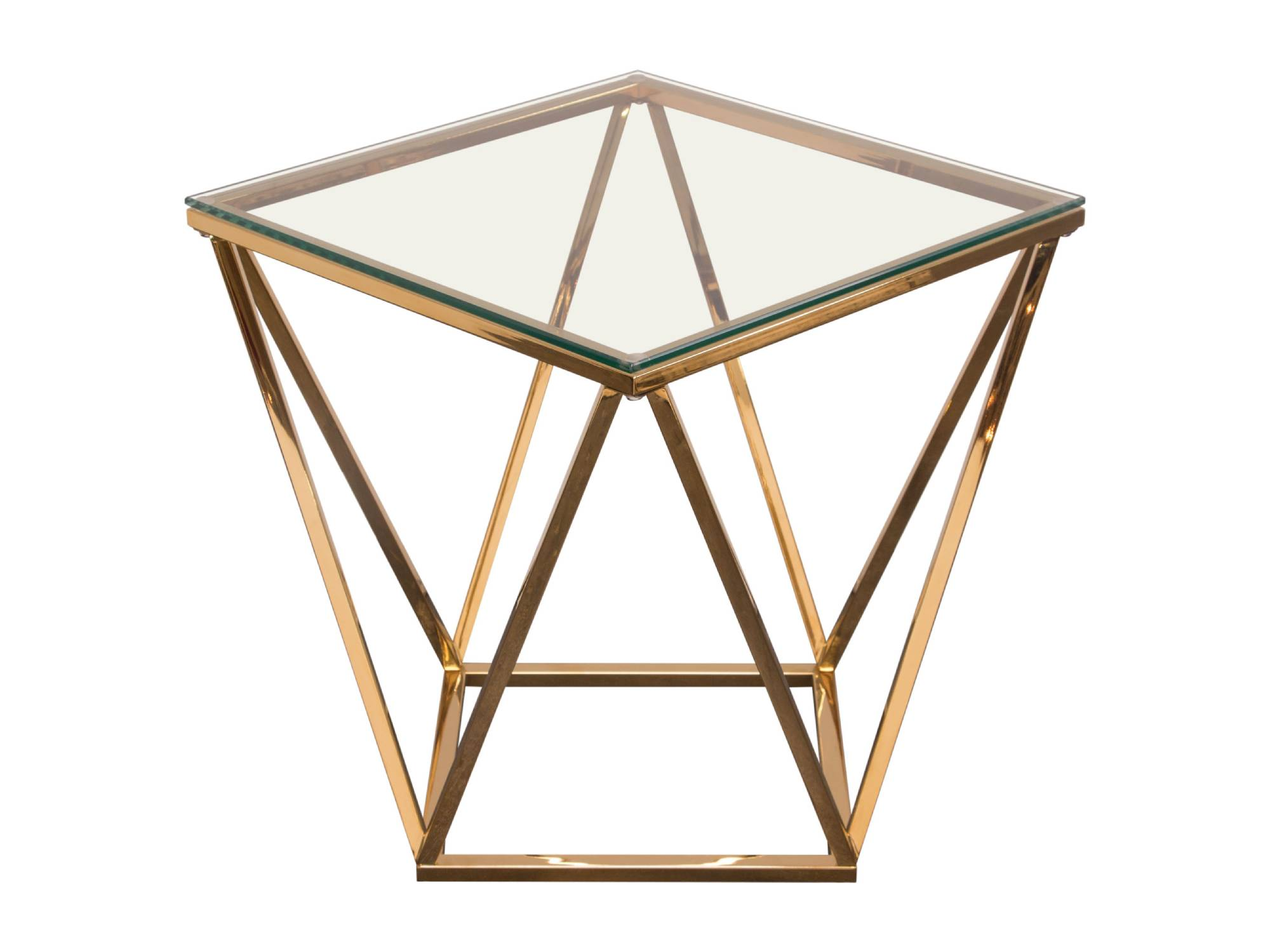DIAMOND ACCENT TABLE - GOLD