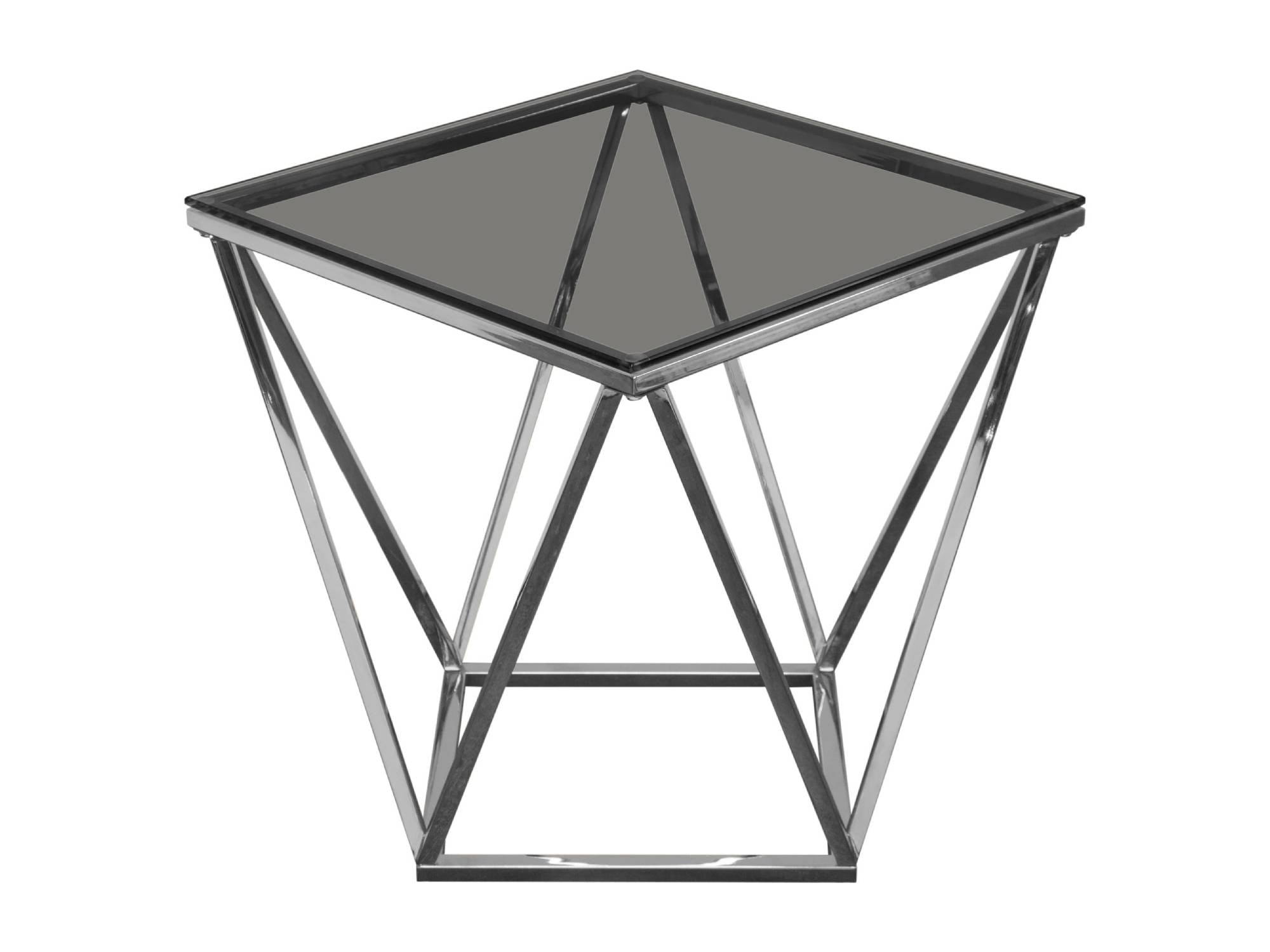 DIAMOND ACCENT TABLE - SILVER