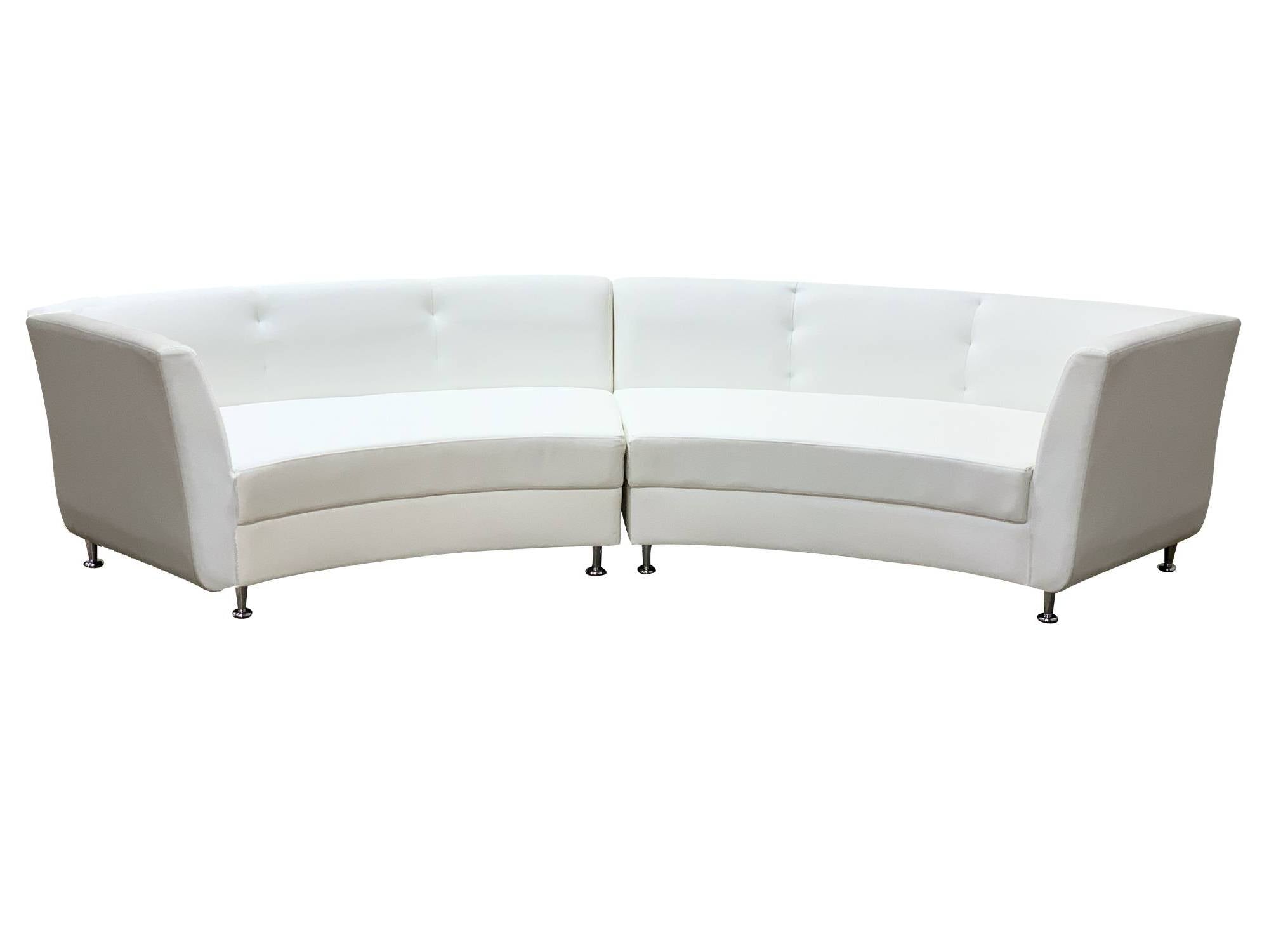 LUXURY 2PC CURVED SOFA - WHITE