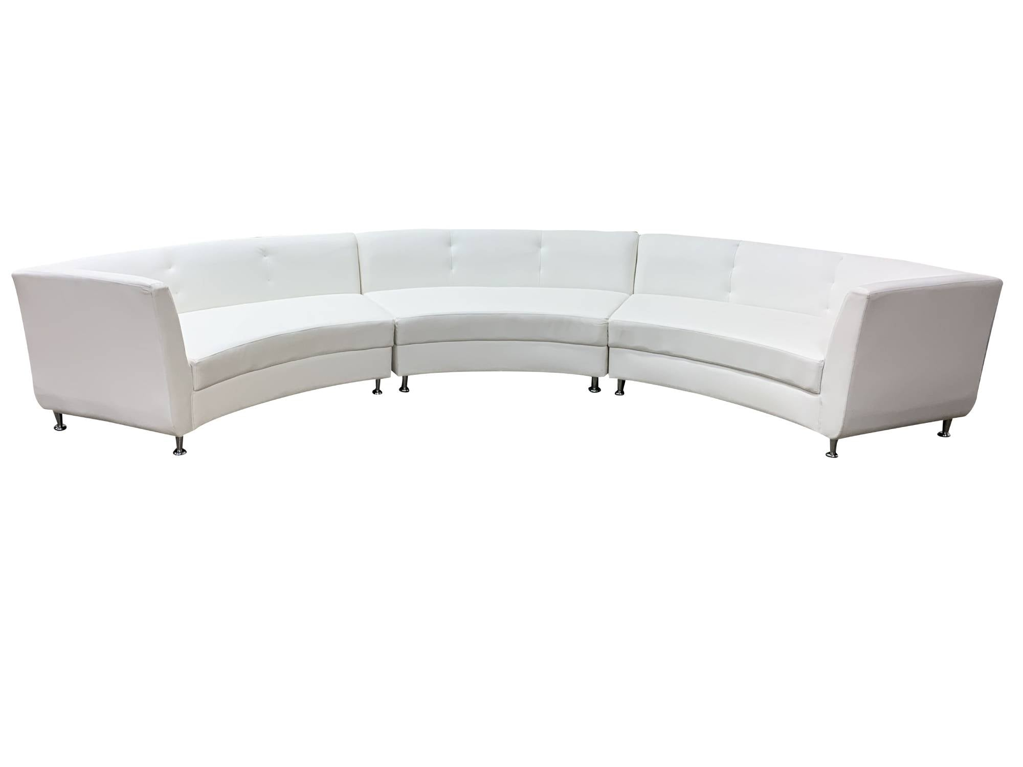 LUXURY 3PC CURVED SOFA - WHITE