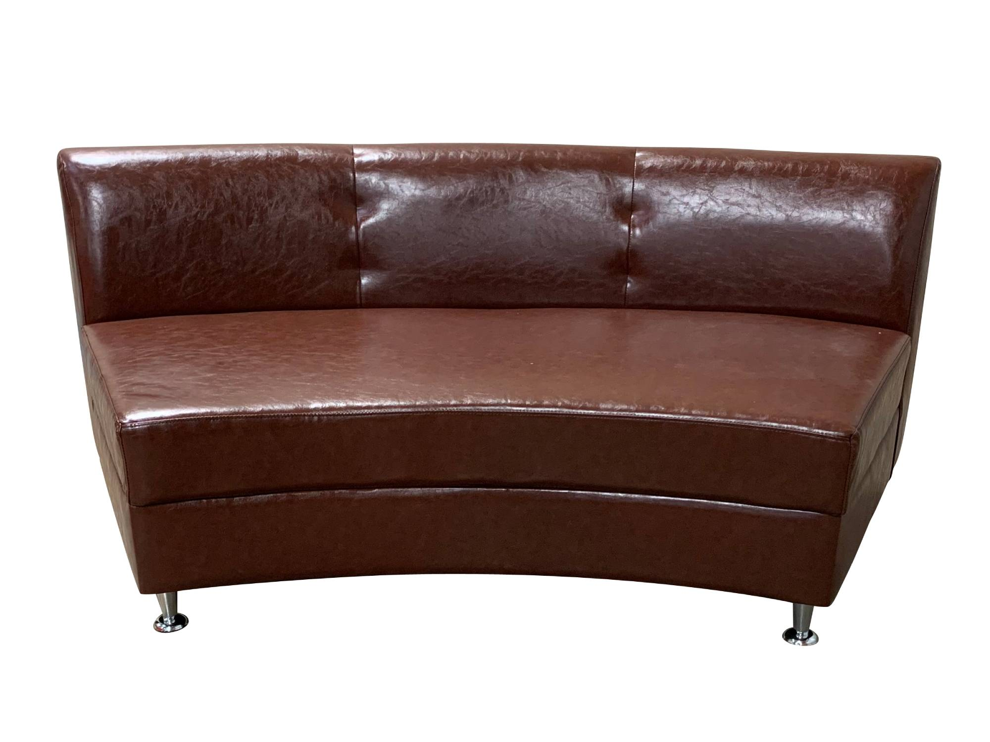 LUXURY ARMLESS SOFA SECTION - BROWN