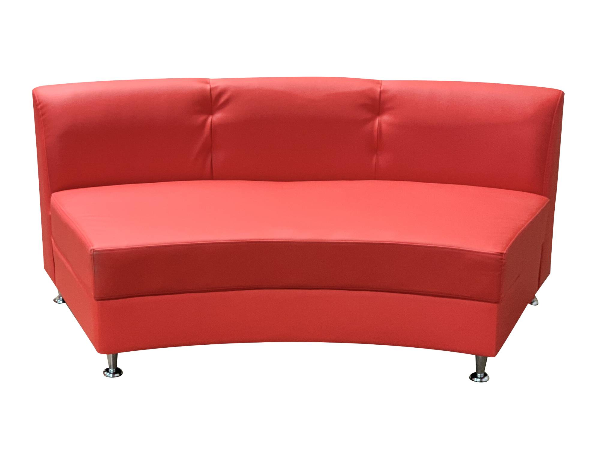 LUXURY ARMLESS SOFA SECTION - RED