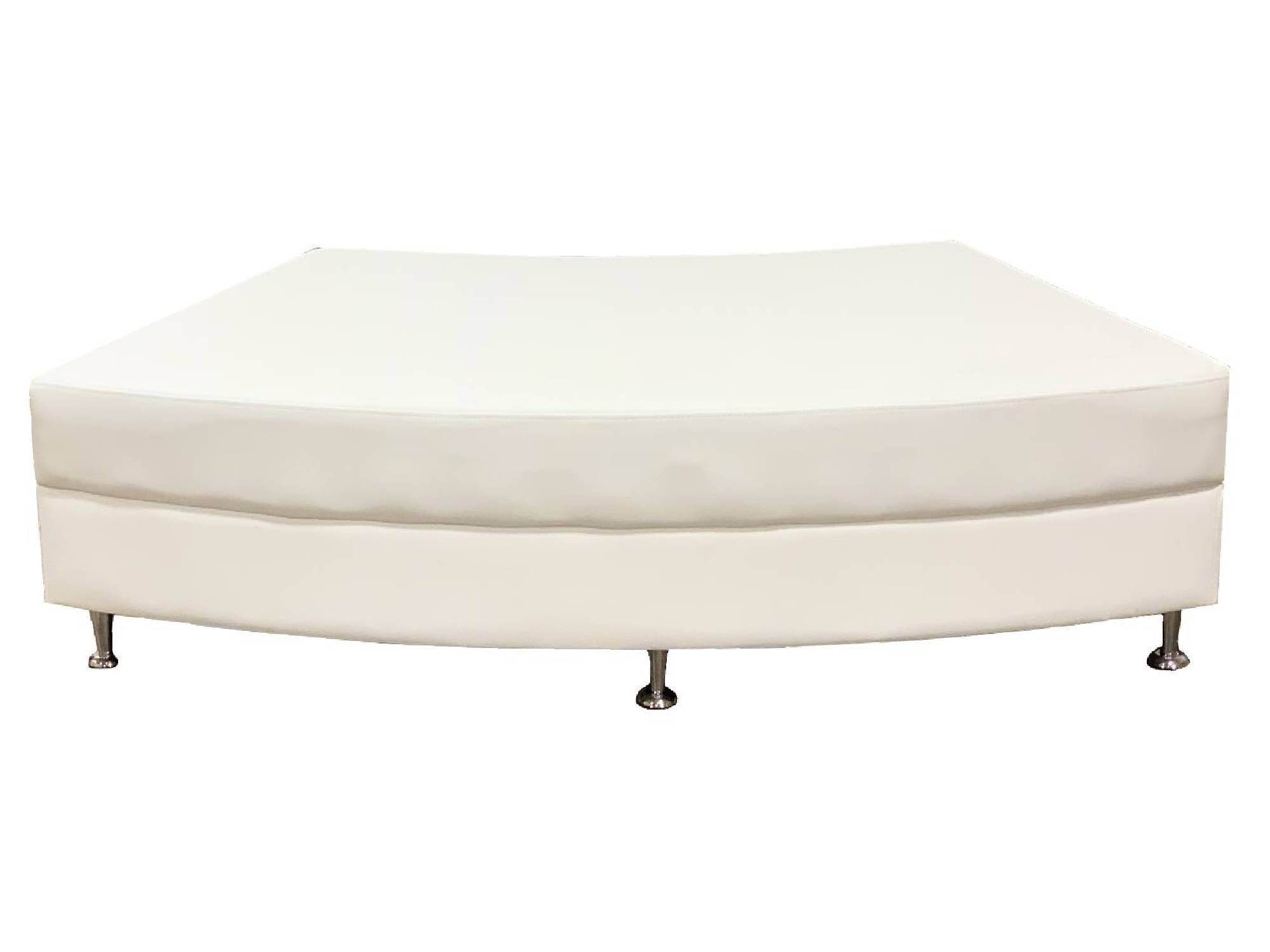 LUXURY QTR CIRCLE OTTOMAN - WHITE