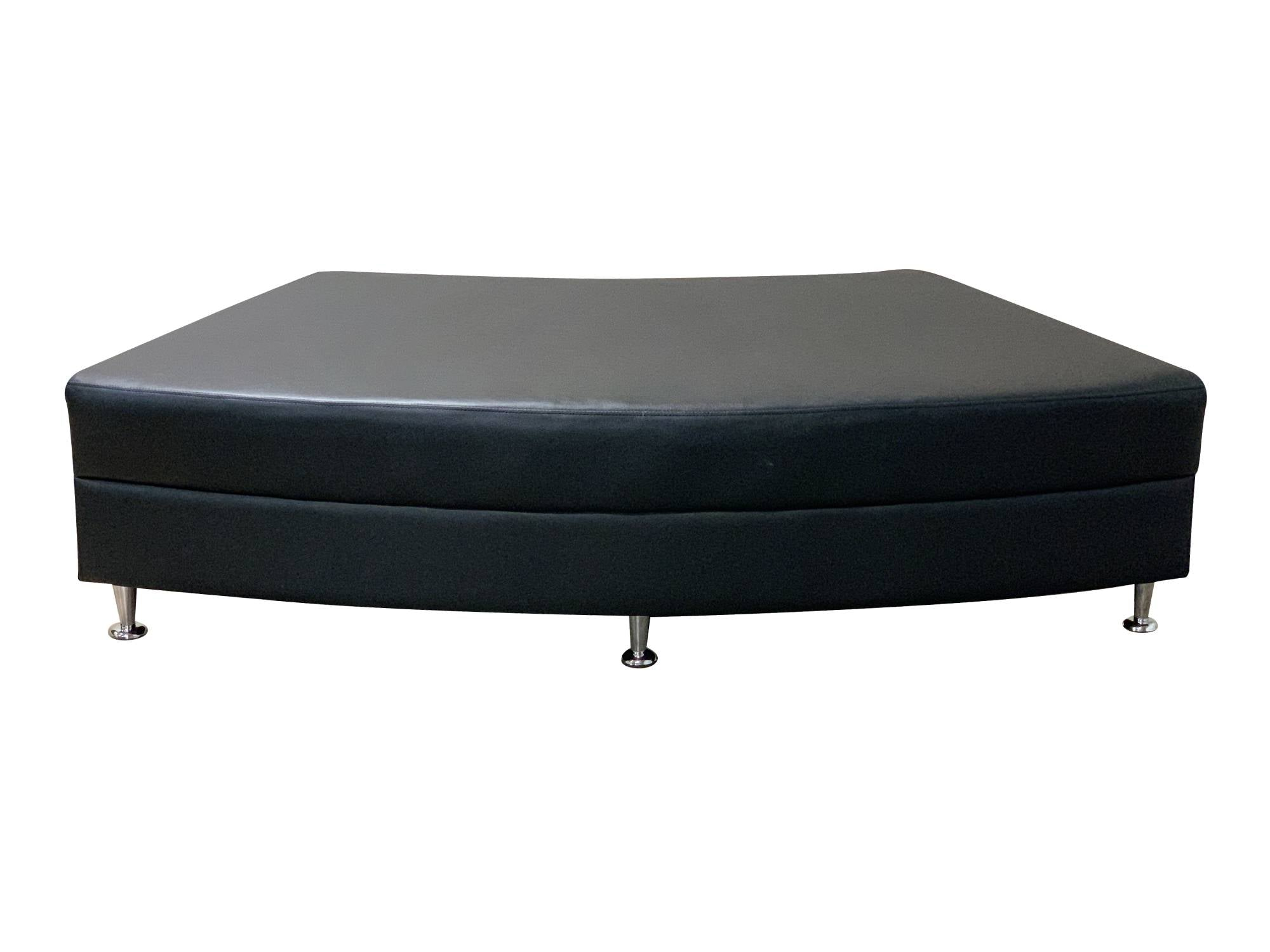 LUXURY QTR CIRCLE OTTOMAN - BLACK