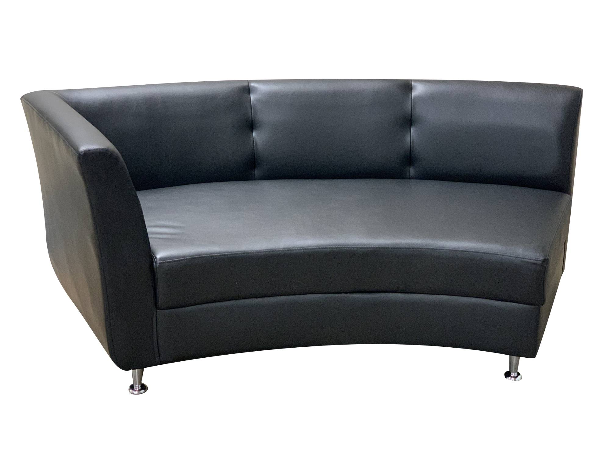 LUXURY RIGHT ARM SOFA SECTION - BLACK