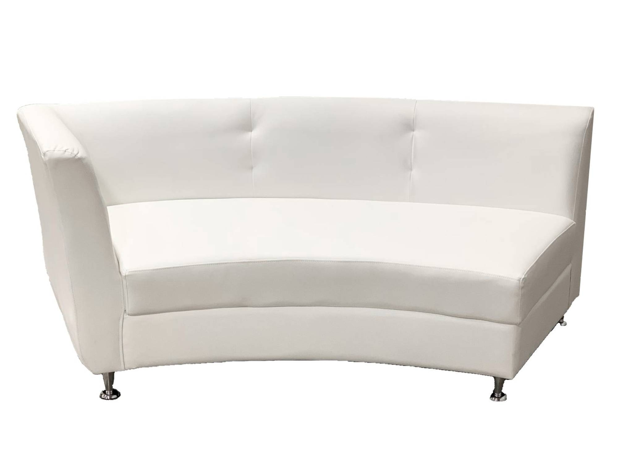 LUXURY RIGHT ARM SOFA SECTION - WHITE