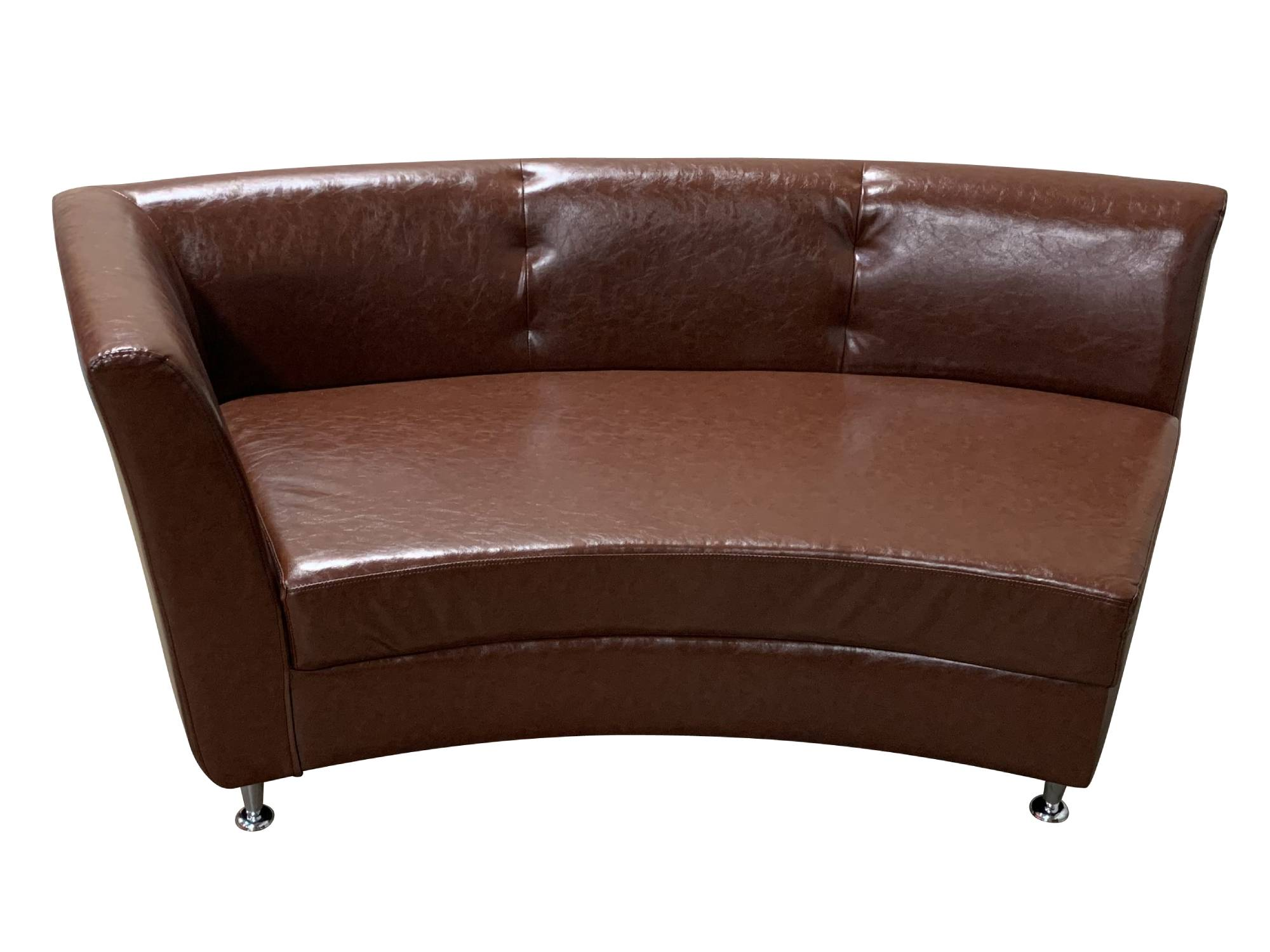 LUXURY RIGHT ARM SOFA SECTION - BROWN