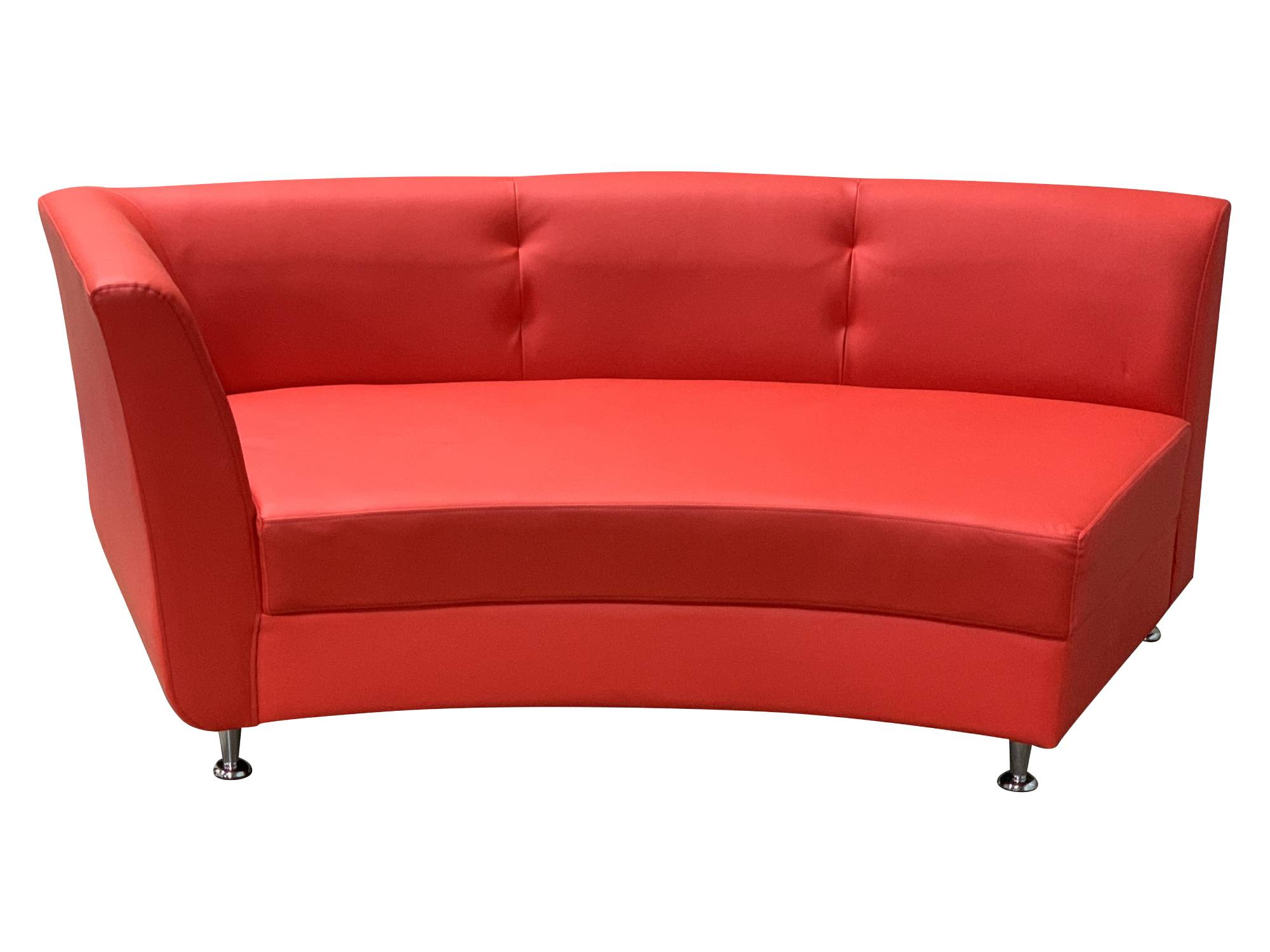LUXURY RIGHT ARM SOFA SECTION - RED