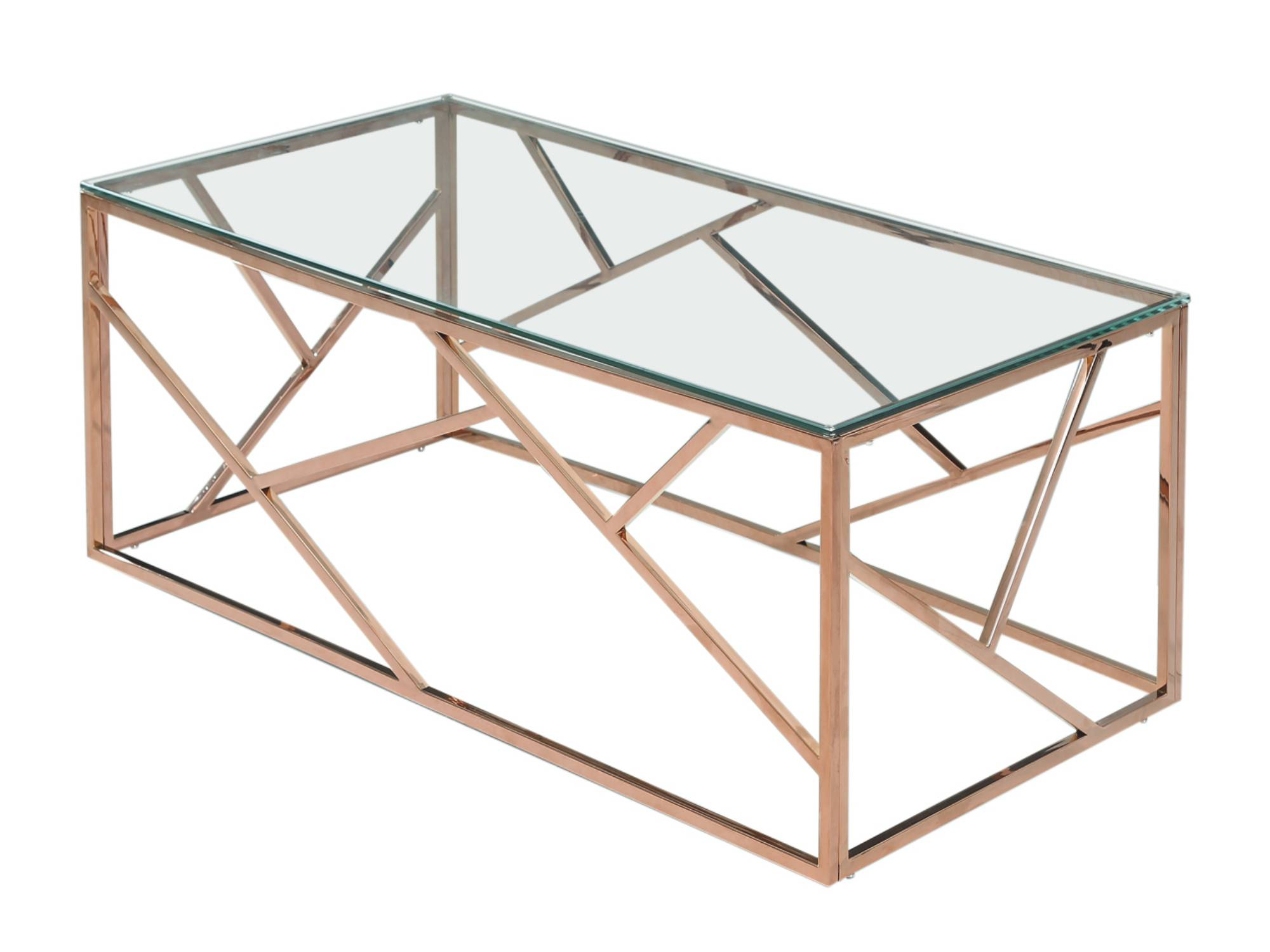 MOSAIC COFFEE TABLE - ROSE GOLD