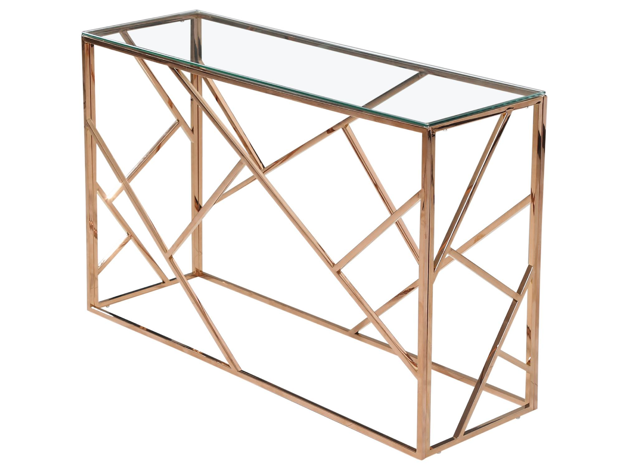 MOSAIC CONSOLE TABLE - ROSE GOLD