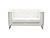 METRO CHROME LOVESEAT - WHITE
