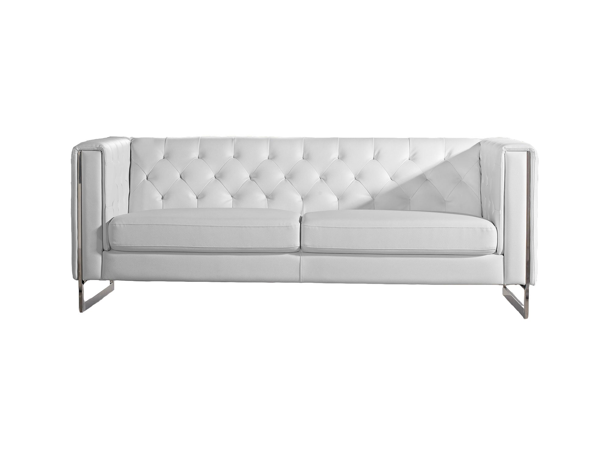 METRO CHROME SOFA - WHITE