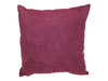 MICROSUEDE PILLOW - PLUM RIBBED