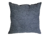 MICROSUEDE PILLOW - BLACK RIBBED