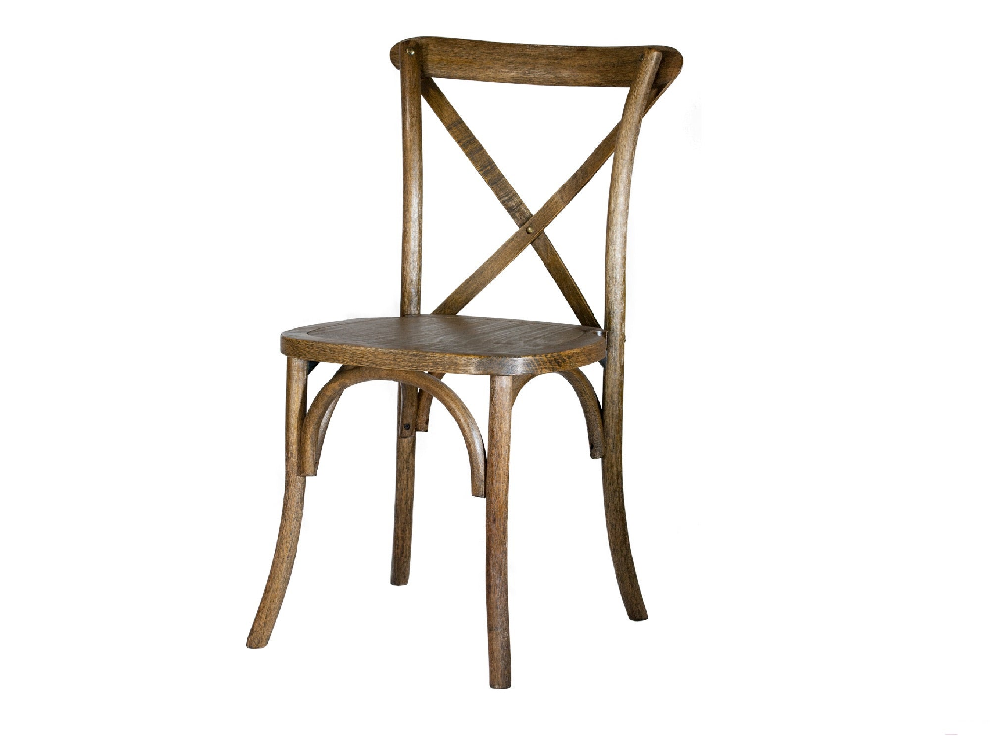 WOOD CROSS BACK CHAIR - PECAN