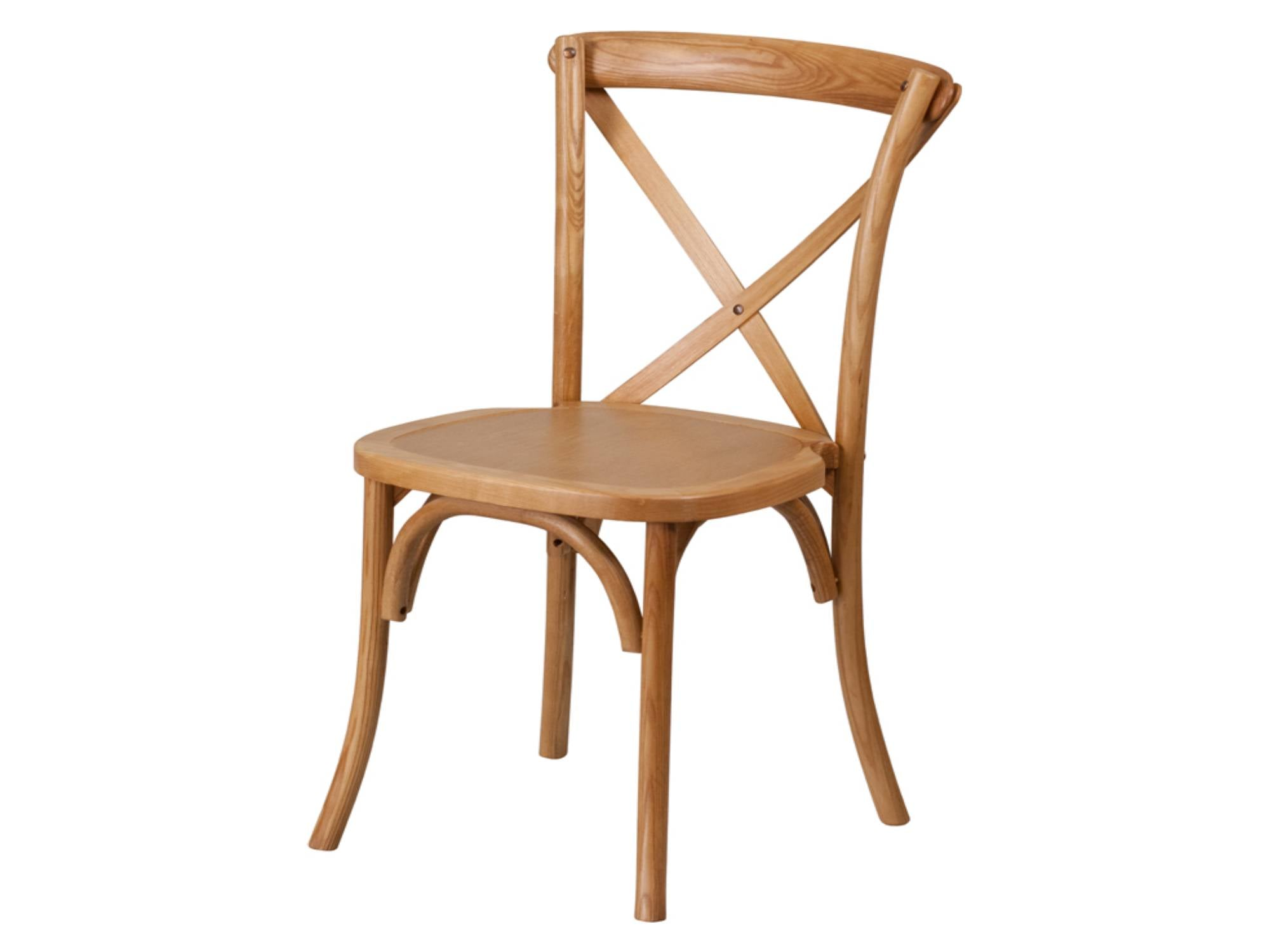 WOOD CROSS BACK CHAIR - OAK WOOD