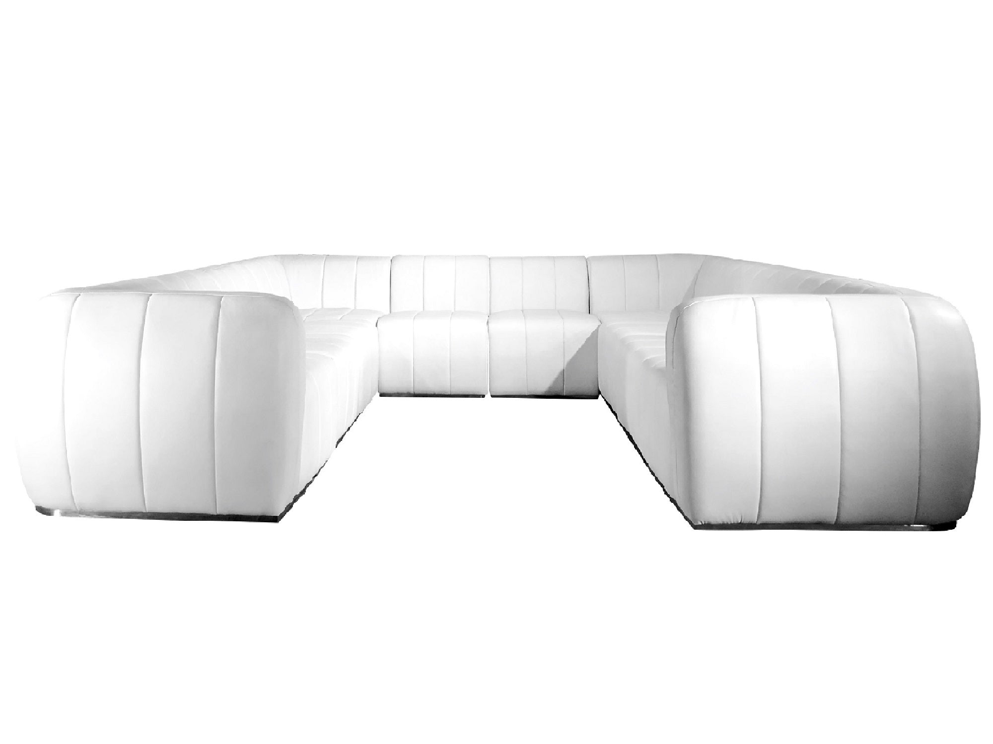 "PLUSH 10PC ""U"" SHAPED SECTIONAL"