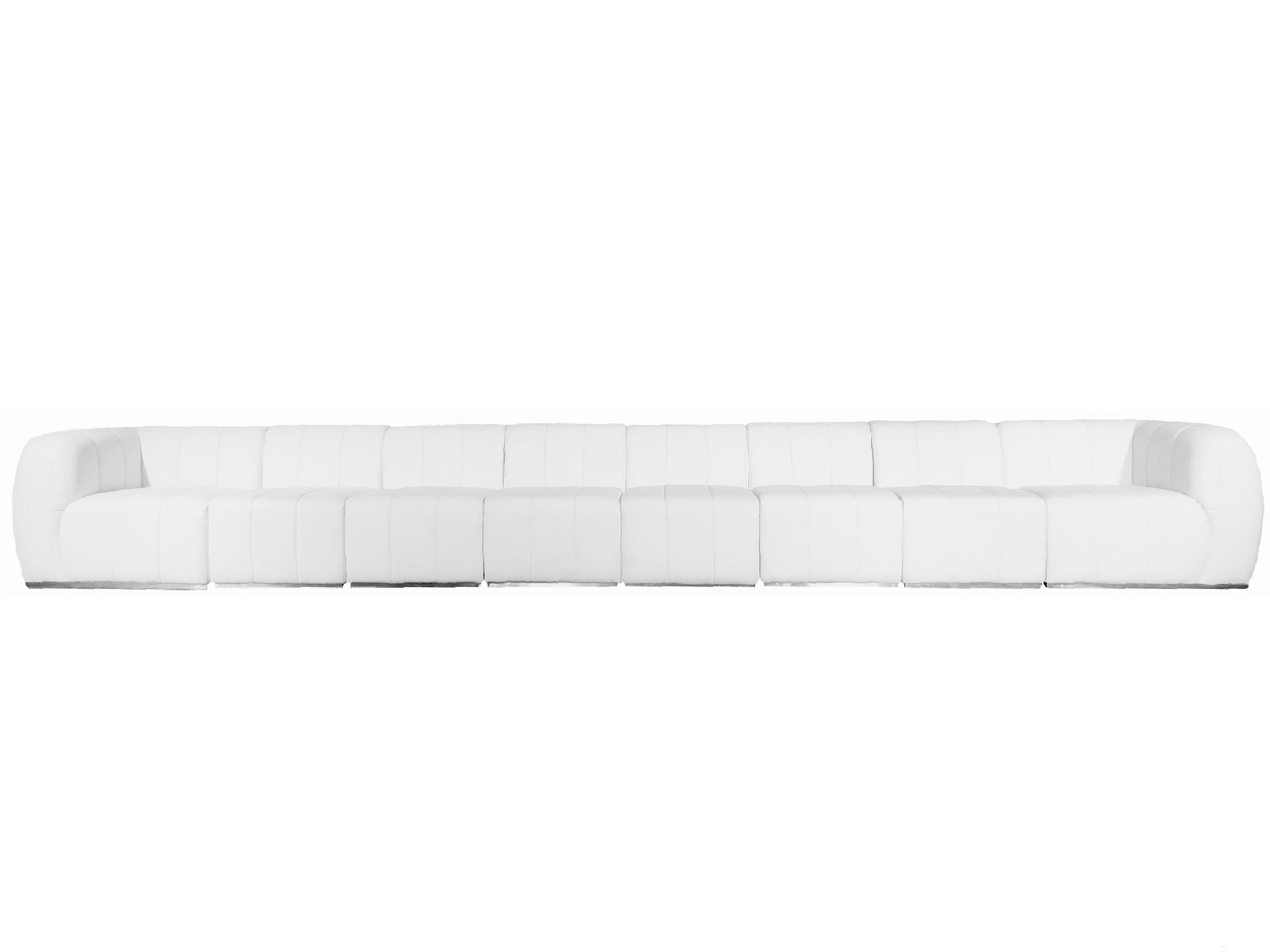 PLUSH 8PC LONG SOFA