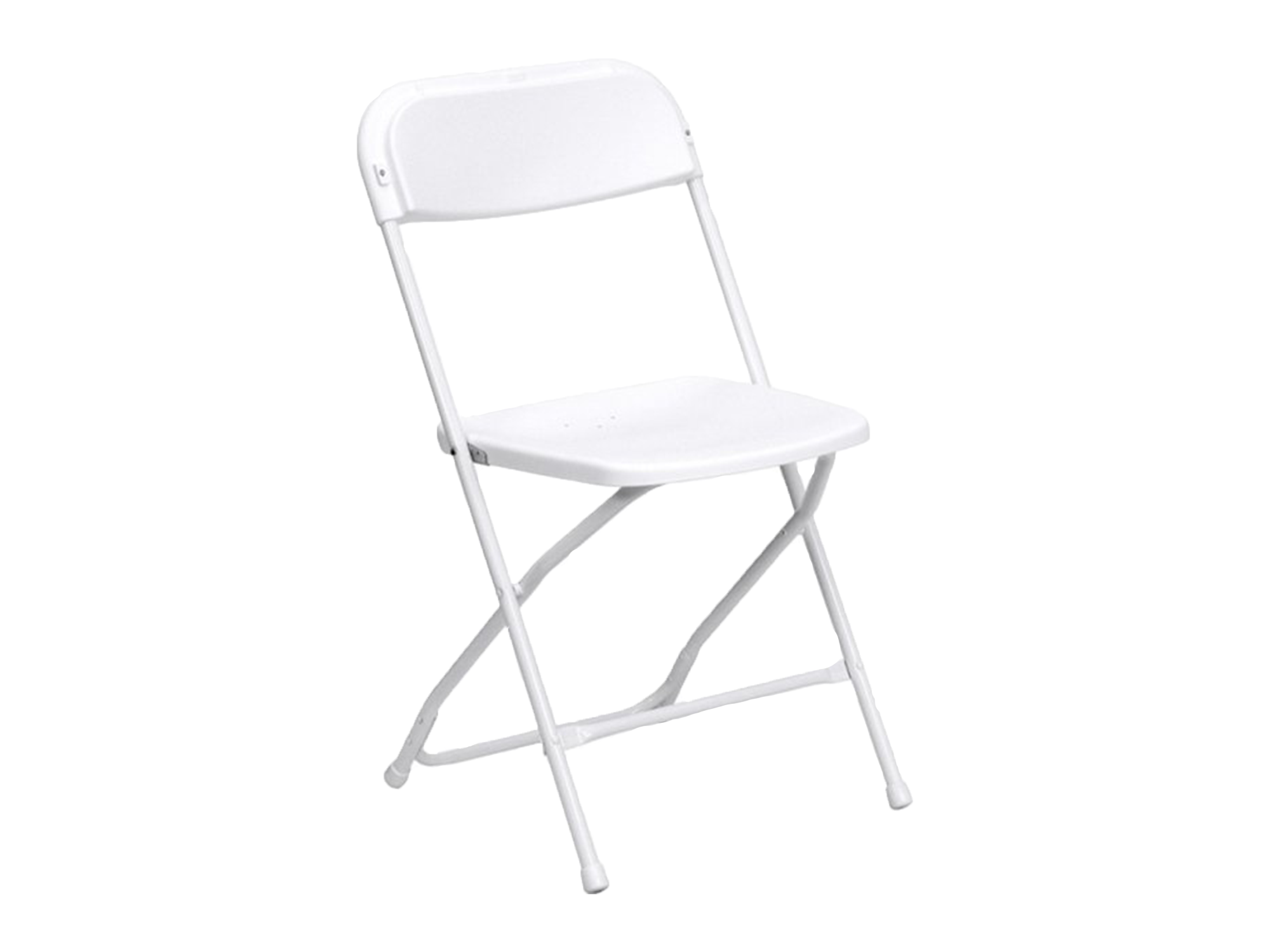 PREMIER PLASTIC FOLDING CHAIR - WHITE