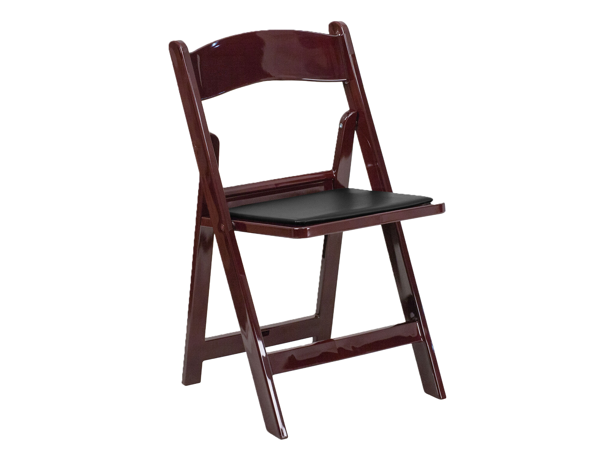 RESIN PADDED FOLDING CHAIR - MAHOGANY