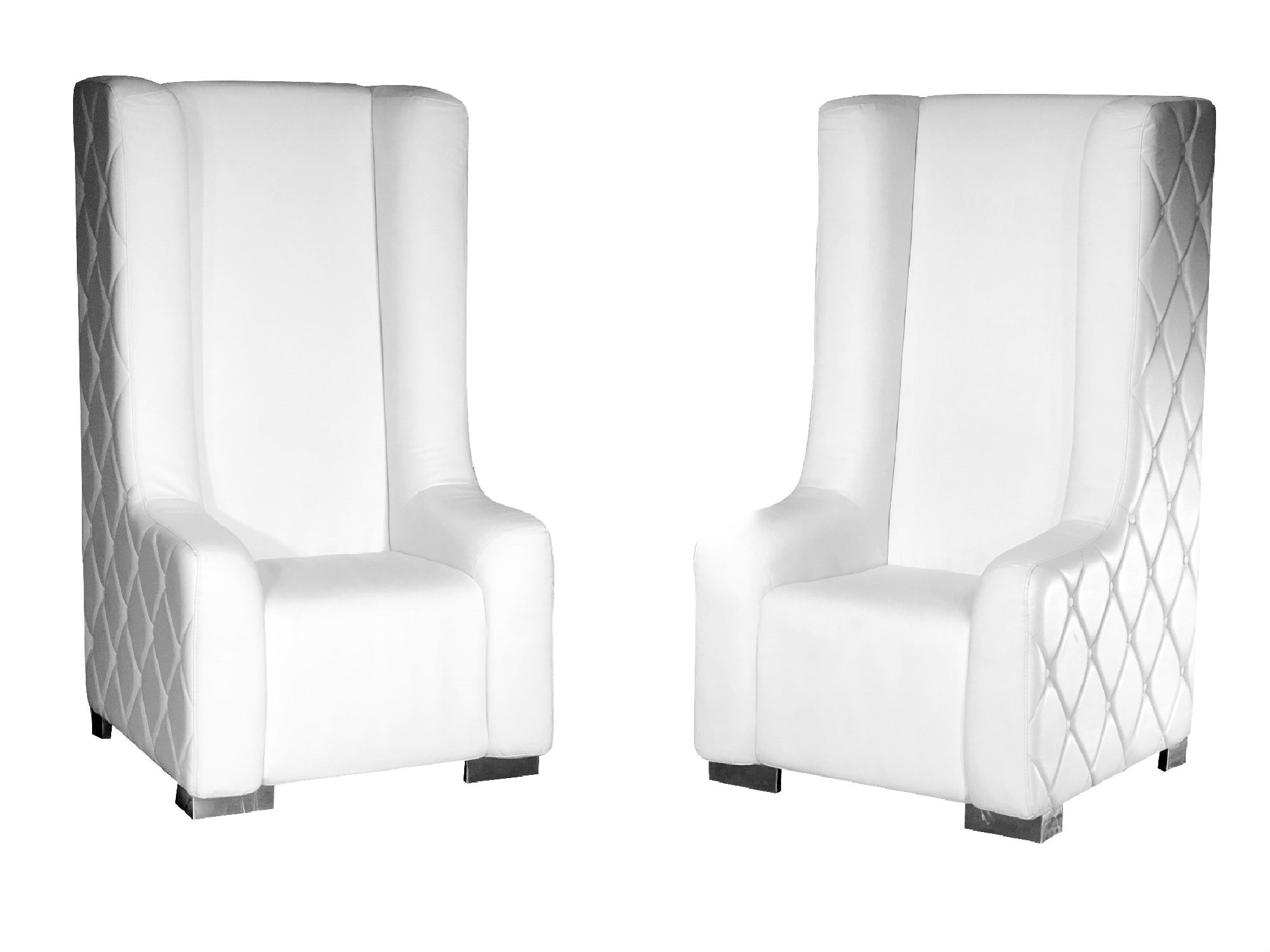 ROYALTY CLASSIC THRONE CHAIRS - WHITE