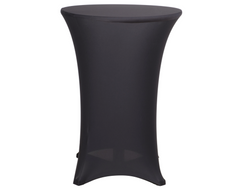 "30"" HIGHBOY SPANDEX LINEN - BLACK"