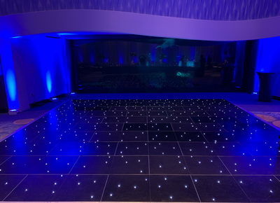 GLOSSY LED STARLIT DANCE FLOOR - BLACK