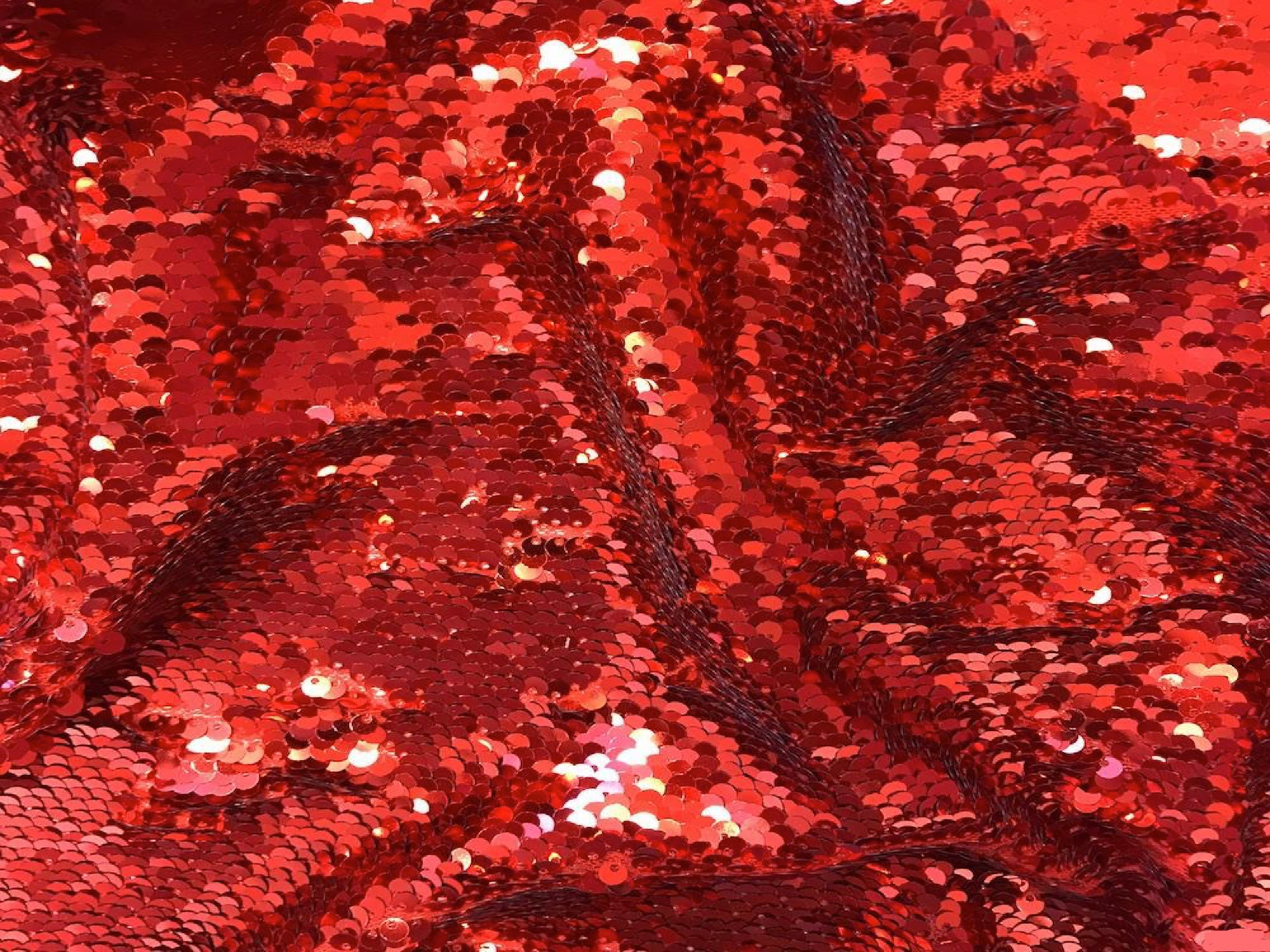 SEQUIN DRAPE - RED