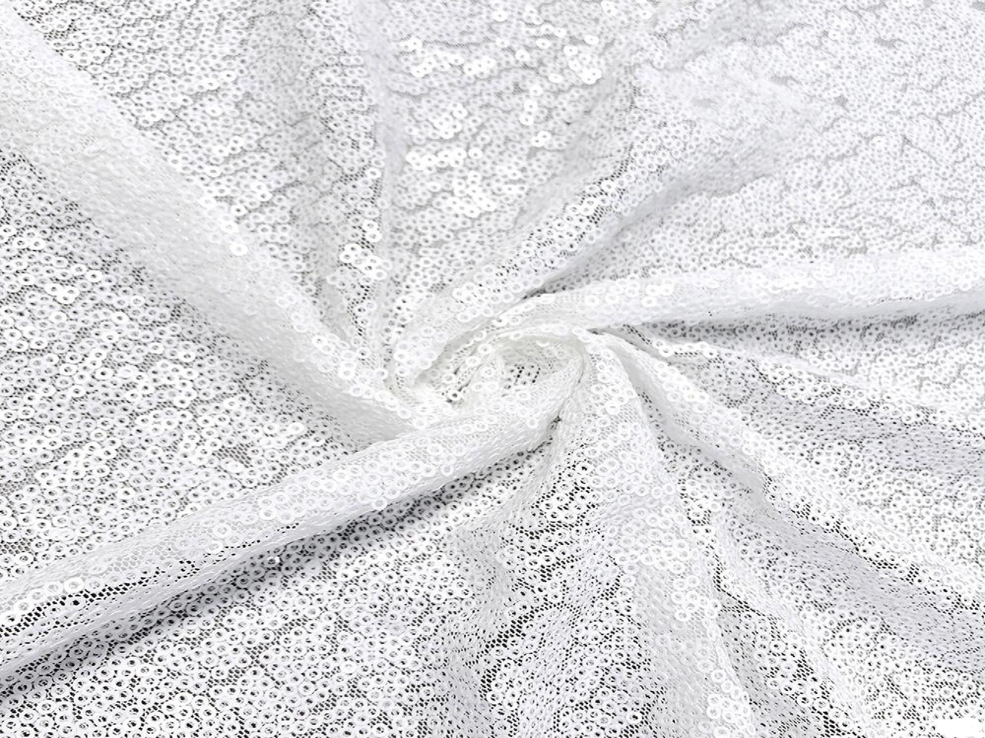 SEQUIN DRAPE - WHITE