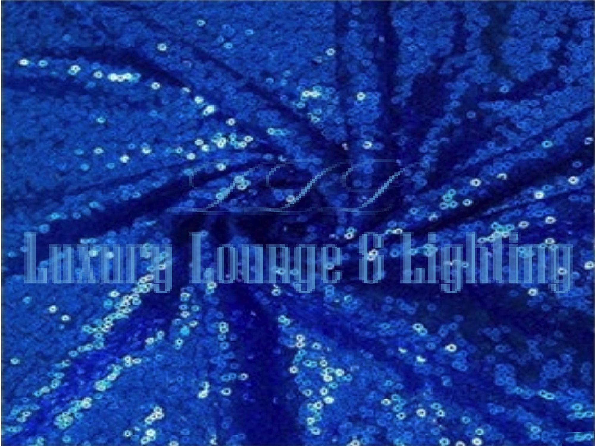 SEQUIN LINEN - ROYAL BLUE