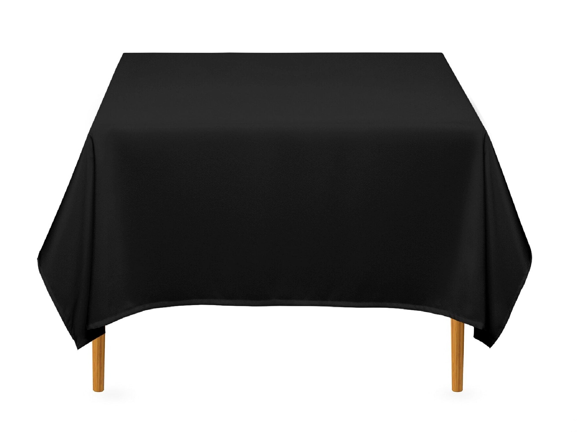 "SQUARE POLY LINENS | 85"" x 85"" - BLACK"