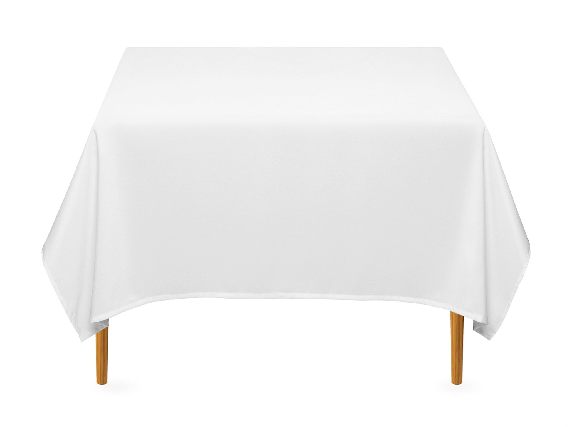 "SQUARE POLY LINENS | 72"" x 72"" - WHITE"